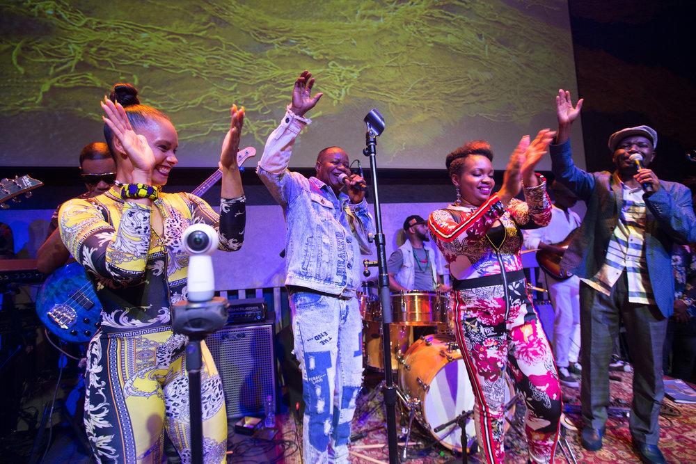 Eto'o Tsana, Nyboma Mwan'dido, Sahara Nzongola, and Luciana Demingongo