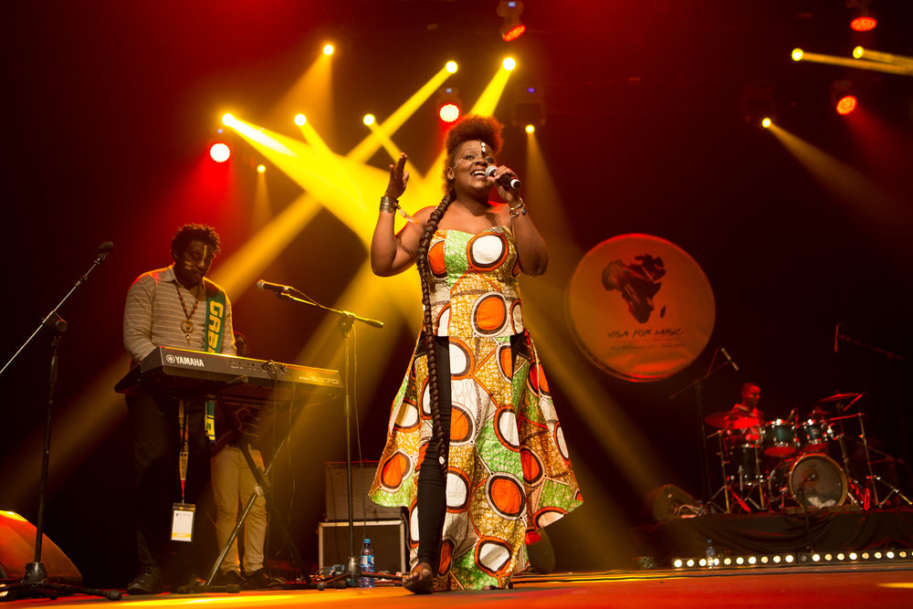 Queen Koumbof Gabon performing at the 2017 Visa For Music edetion. Click on the photo for a photo gallery of performances.