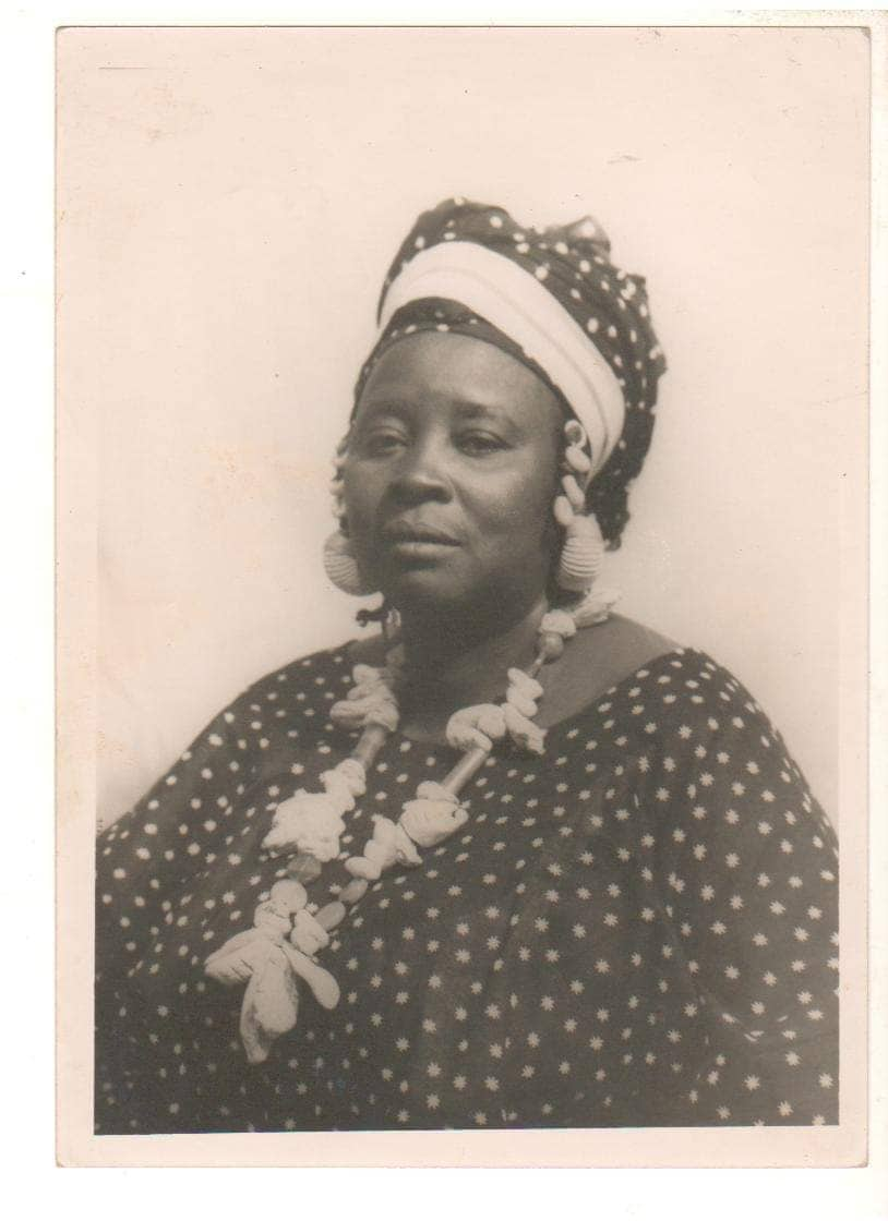 Walden Damba Sissoko, a griot and grandmother of Cheickne Bengue Sissoko. He recalled his first memory of working as a musician as traveling with his grandmother and father to Segou to play at a wedding at age 5. Photo courtesy of the artist.
