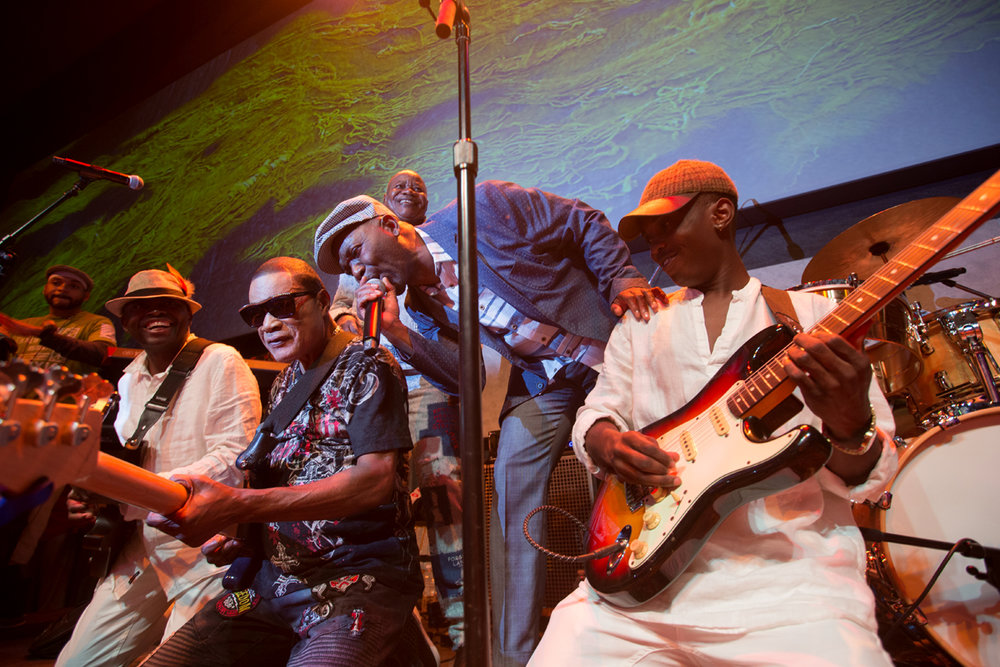 The Soukous All Stars at the  Lincoln Center Atrium , August 23rd brought togetherElie Kihonia, Nyboma Mwan'dido, Ngouma Lokito, and Yohni Sungu in a show that rekindled the magic of 80's Congolese sound .