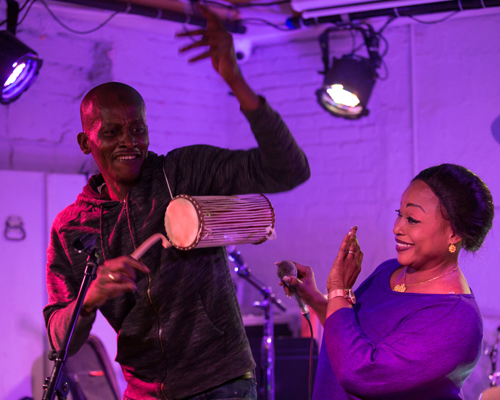 Cheickne Bengue Sissoko and Yah Kouyate from Mali in their first US performance at Silvana with Dembaya, November 23rd.
