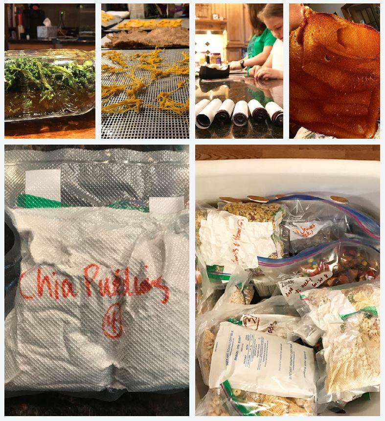 Top Row: Broccoli, Spaghetti Squash, Fruit Roll-Ups, Spaghetti Sauce