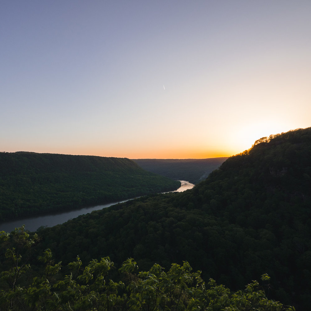 Sunset over the Gorge.