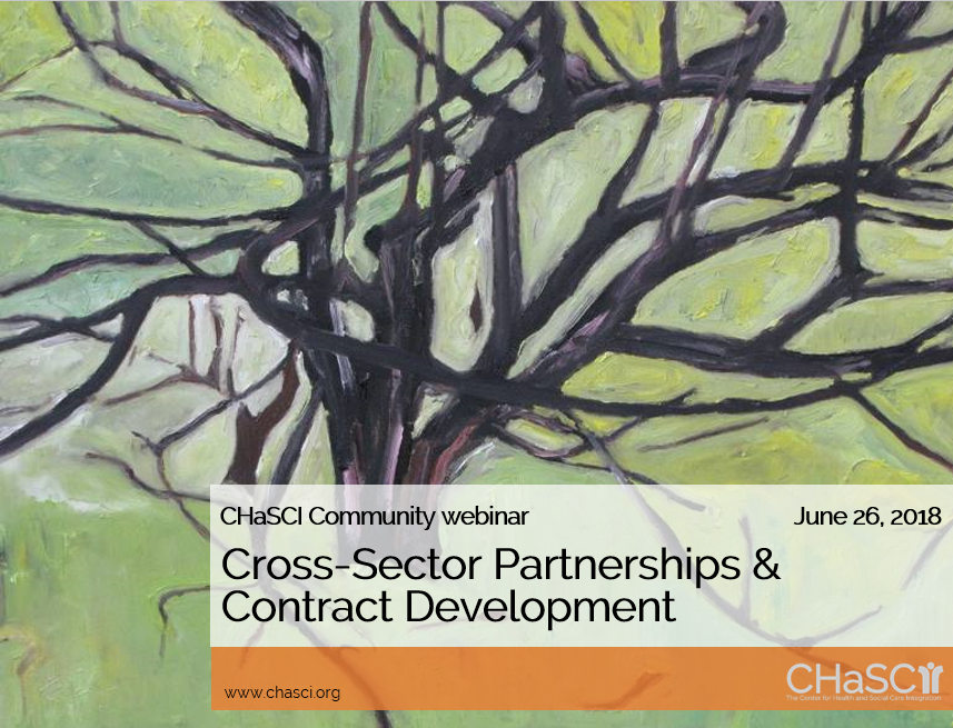 Cross-Sector Partnerships & Contract Development - June 2018 CHaSCI Community webinar
