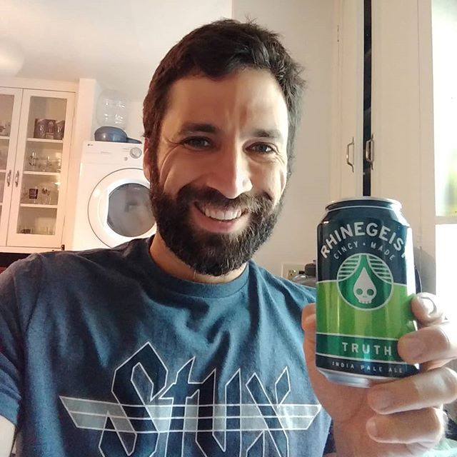 In honor of my friend Rachel Bohlen's donation to our campaign today, I am raising a glass of Rhinegeist's IPA, Truth, made in Cincinnati. Rachel is from Cincinnati so I thought it was fitting. Thanks, @rachelb625! Your support means the world!  If you'd like to make a donation as well, goo.gl/9ZP18W  Let's keep moving forward!  #rotterforassembly #StateAssembly #YesWeCan #YesWeWill #letskeepmovingforward #campaigning #bettertogether #persist #resist #CA #youngscrappyandhungry #voteforkenny