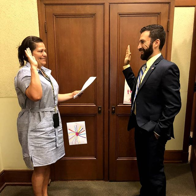 Valar Dohaeris. All must serve.  Today, I was honored and humbled to take my first oath as I became the newest Library Commissioner for Pasadena. I'm very excited to support them and my community.  The best way to make an impact is to be of service to your communities. It doesn't have to take money, just a little bit of time. You can get involved in numerous ways. Please do what you can in your states, cities, and neighborhoods.  #Libraries #Books #ValarDohaeris #Pasadena #AllMustServe #LetsKeepMovingForward
