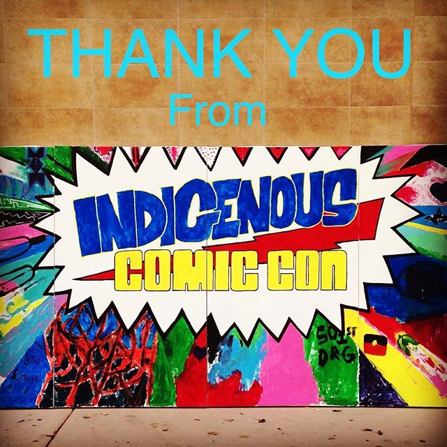 From all of us at Indigenous Comic Con, THANK YOU so much for making the inaugural event a great success! We are incredibly appreciative for all of the awesome vendors, special guests, musicians, artists, writers, film makers, volunteers, cosplayers,  families, and all the community supporters that helped this dream come true! We will continue to keep rockin and we look forward to bringing you more! Keep posting your pics and tag us! See you all soon!!! #icc #IndigenousComicCon #superSuccess #indigenous #NativeAwesome #art #music #writing #film #cosplay