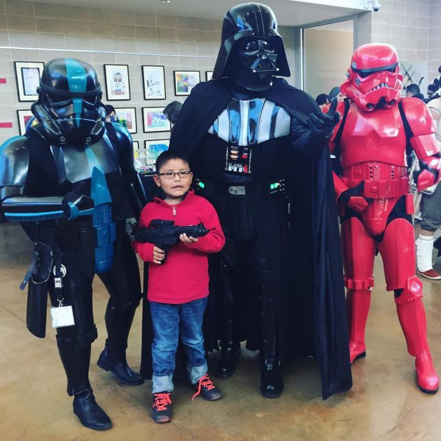 Come to the dark side of Indigenous Comic Con 2016! #abq #newmexico #firstever #indigenouscomiccon #darthvader #starwars