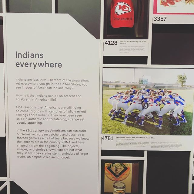 At #nmai for their new #Indians are everywhere exhibit. Very powerful and the reason we do what we do #icc18 #indigenerdsassemble #indigicon18 #indigicon2018 #indigenousoutloud #representationmatters #weareeverywhere