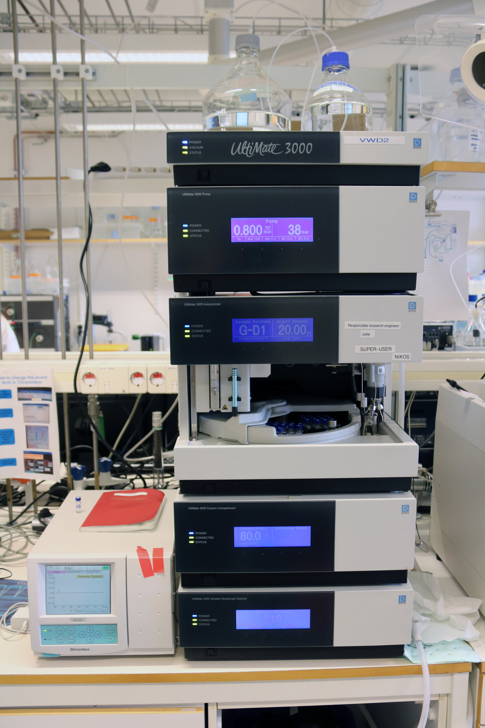 One of our high-pressure liquid chromatography (HPLC) machines. Affectionately known as Malcolm.