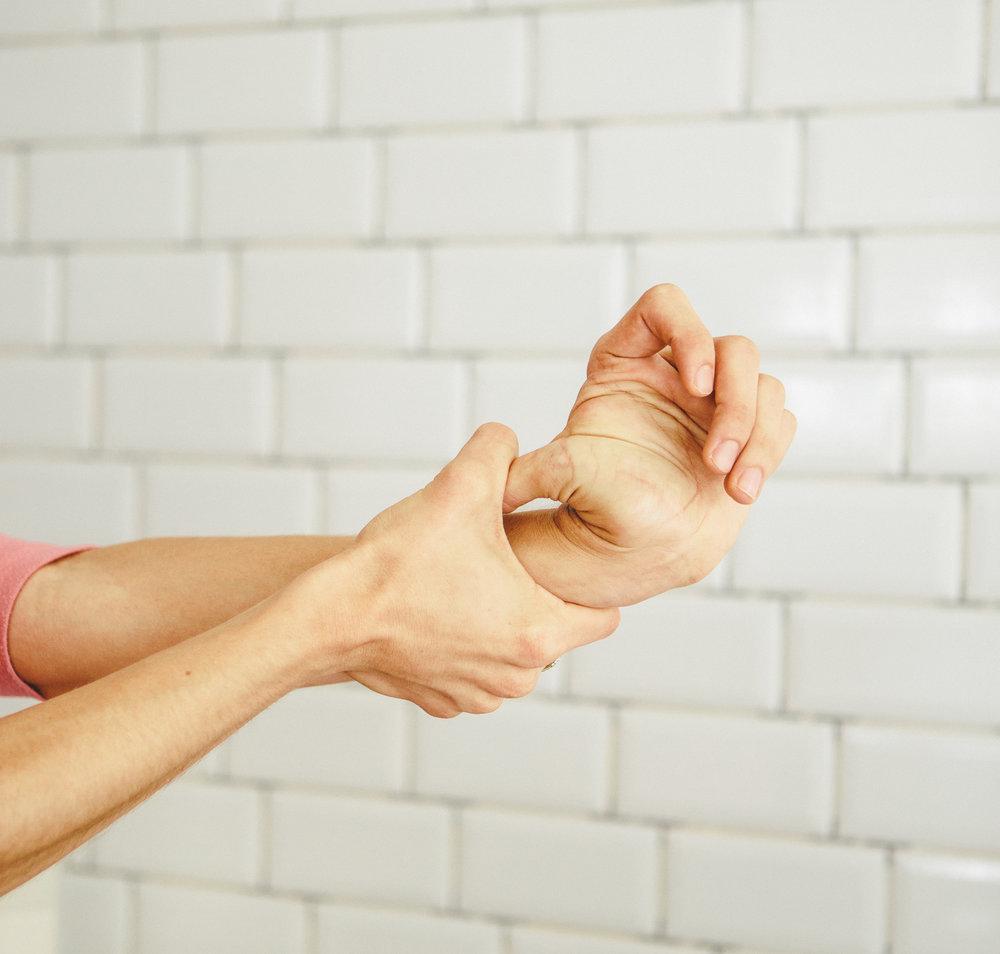 Base of the thumb