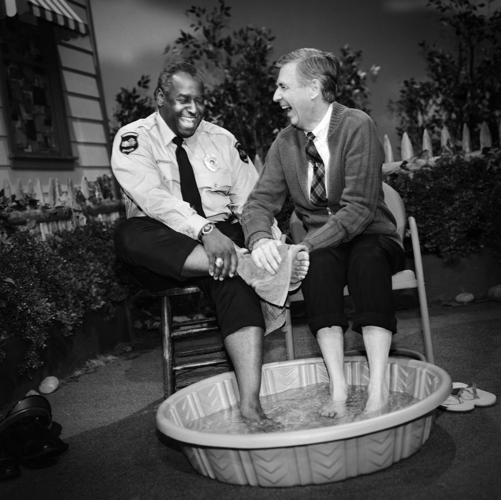 Mister Rogers and officer Clemmons