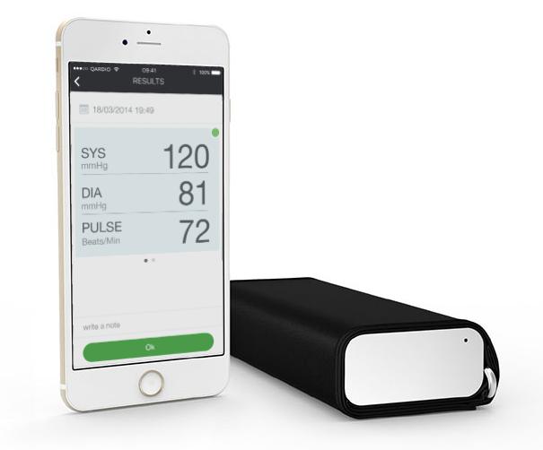 picture of the QardioArm Wireless Blood Pressure Monitor