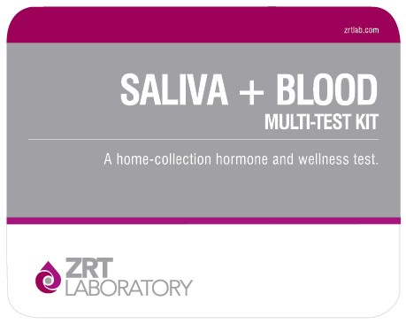 picture of ZRT saliva plus dry blood spot testosterone test kit