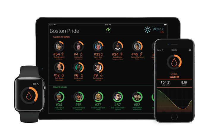 picture of Nix tactical sweat monitor application