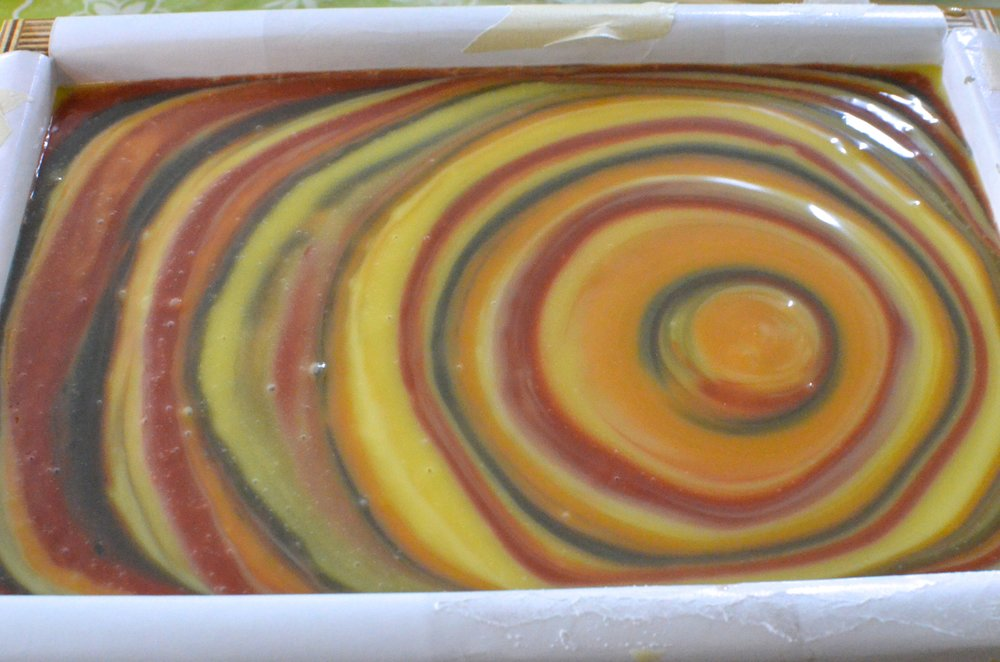 Soap #2 before swirling