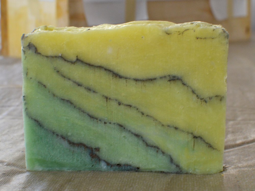 Cool gradient soap without any fragrance