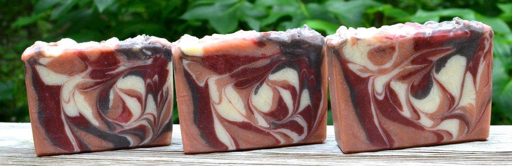 Using HP to make swirled soap