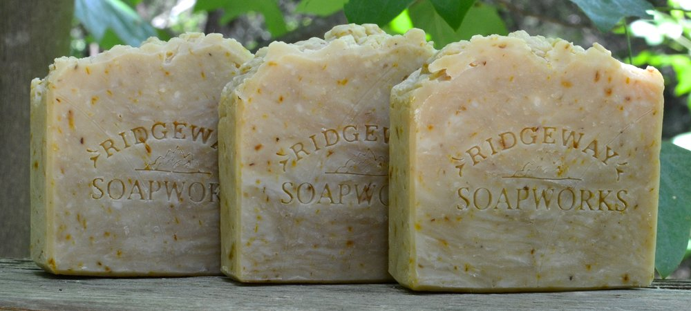 Castile Soap with Calendula Petals