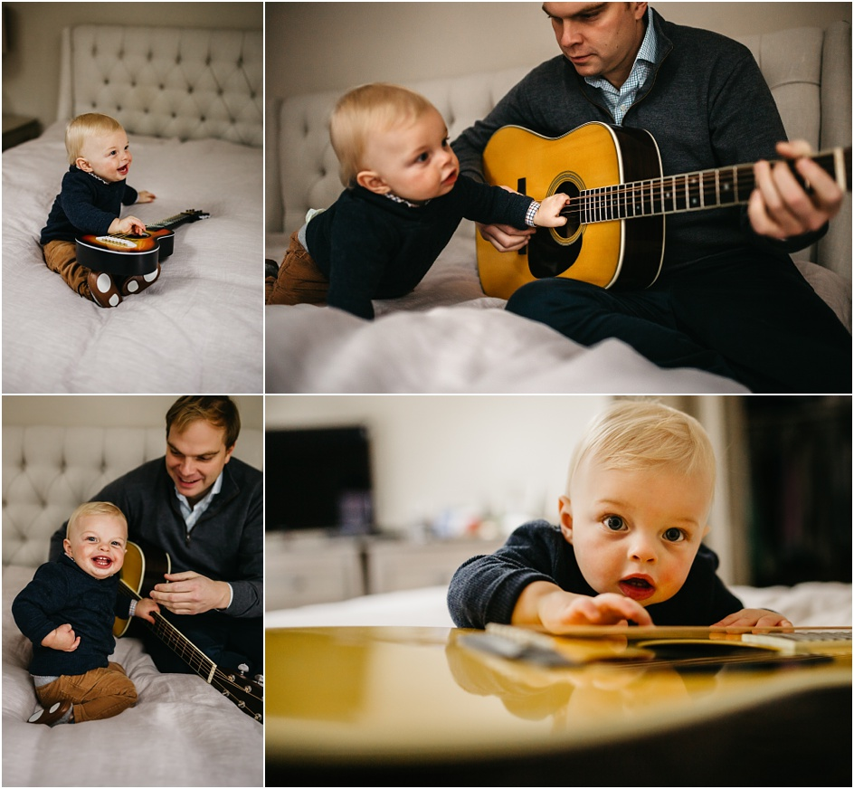 BABY AND DADDY JAM SESSION DARIEN CT IN HOME FAMILY PHOTOS
