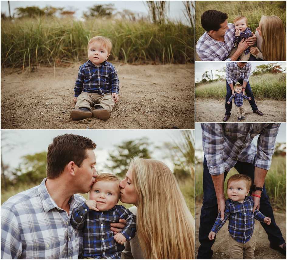 Family portraits at Weed Beach Darien Ct