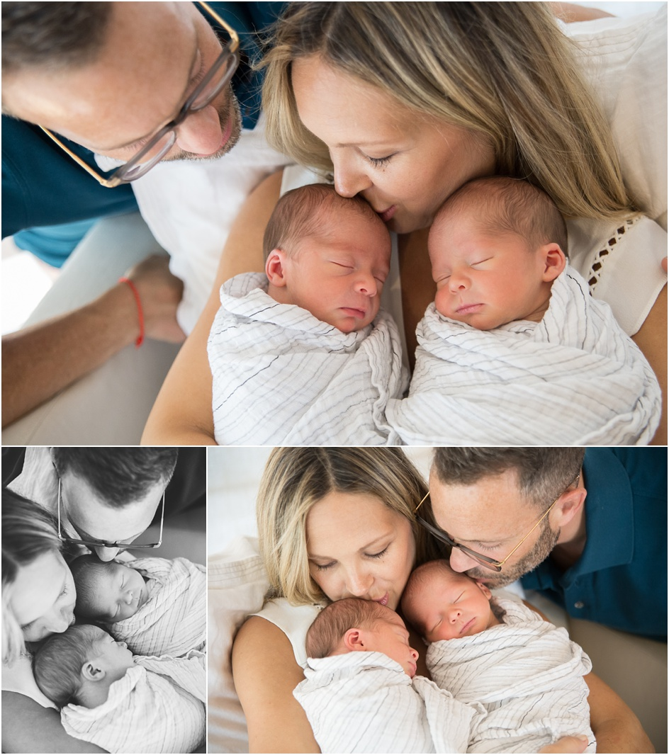 Fairfield county in home twin newborn photography