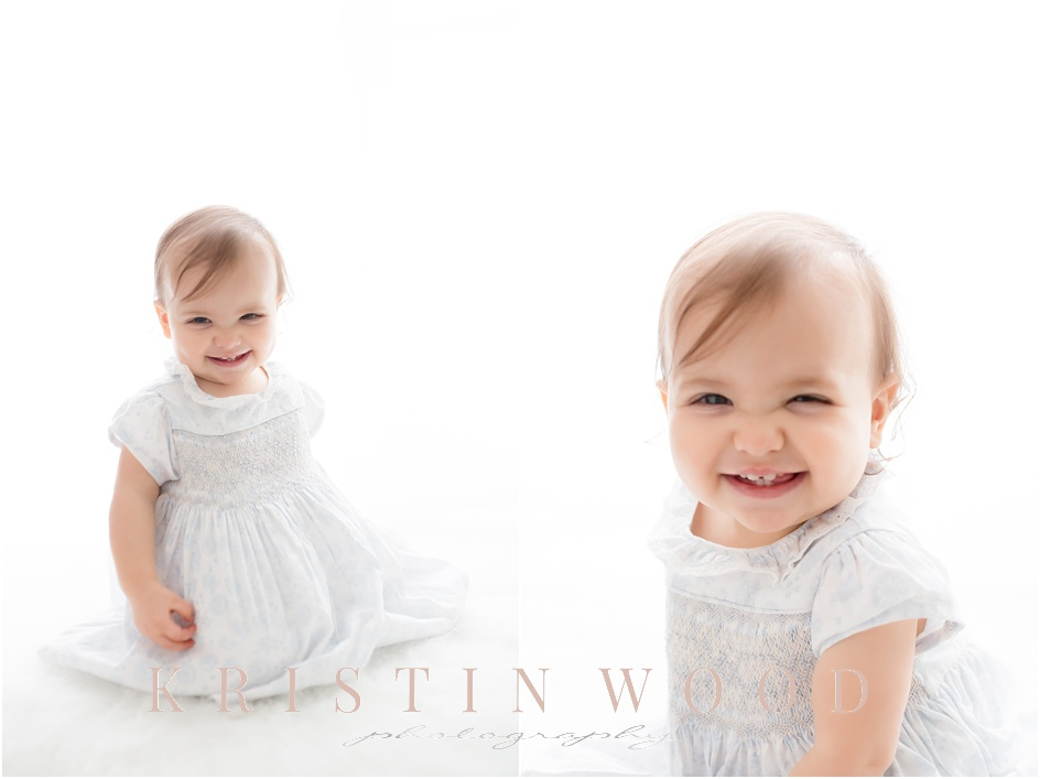 Baby Girl First Birthday Studio Session Fairfield County Baby Photography