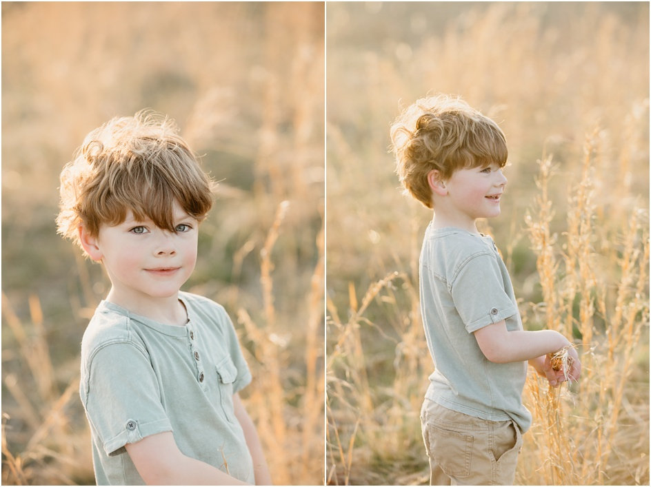 Child portraits sunny fiend New Canaan Fairfield County Photographer