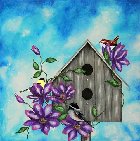 """I love to use happy, vibrant colors in all my paintings of birds, flowers, butterflies and nature."""