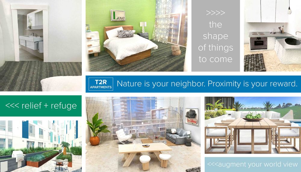 Nature Is Your Neighbor. Proximity Is Your Reward    Vinyl banner with photocollage images, 2017