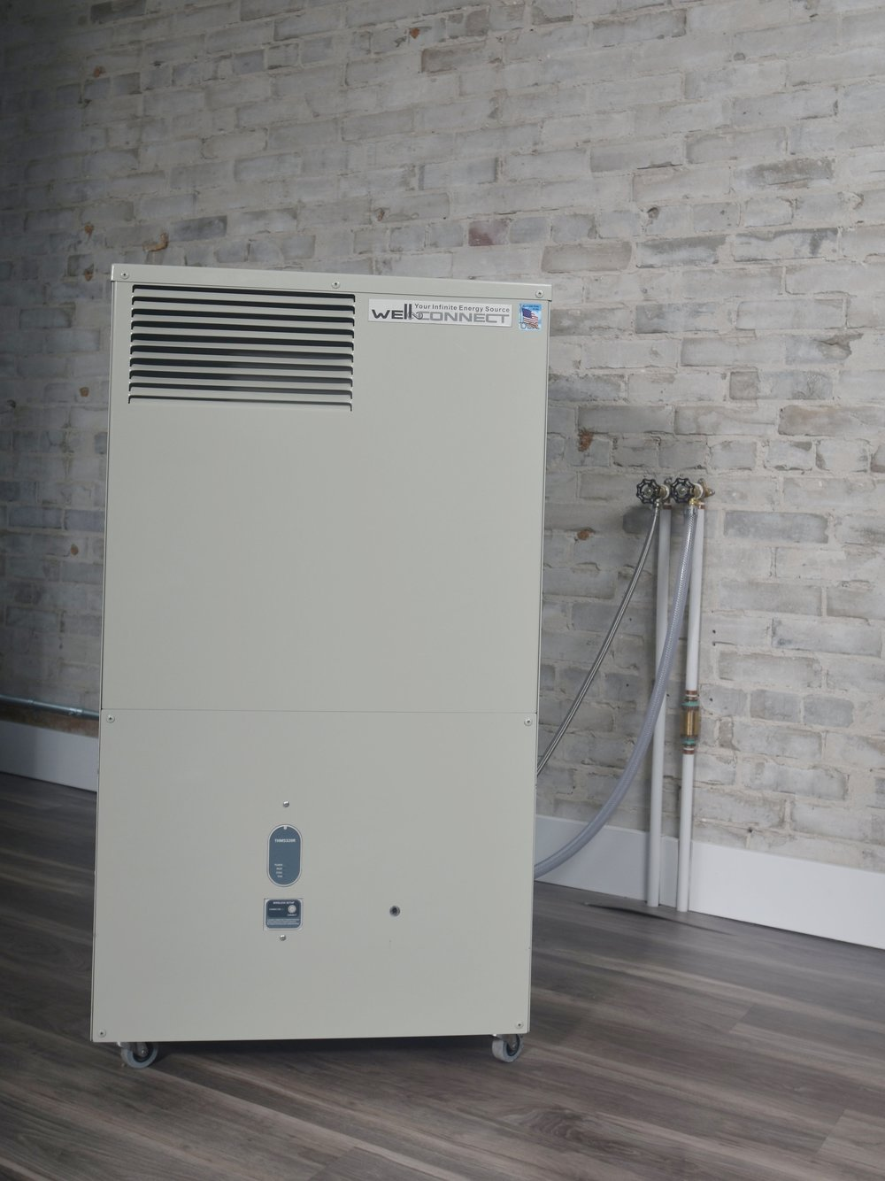 Stand Alone (Ductless) - The simplest installation option, the stand alone configuration is best suited to small cottages, workshops, and other one-room applications.