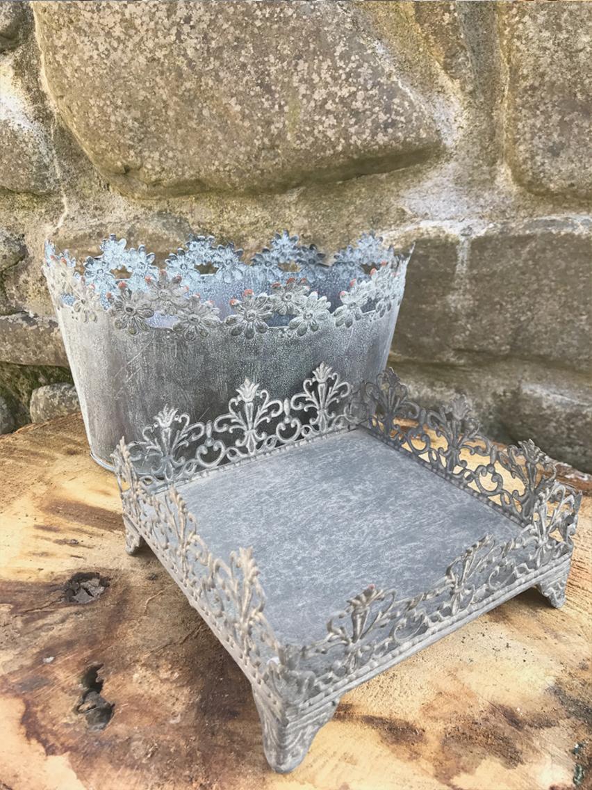 Tin decorative holders £2.00