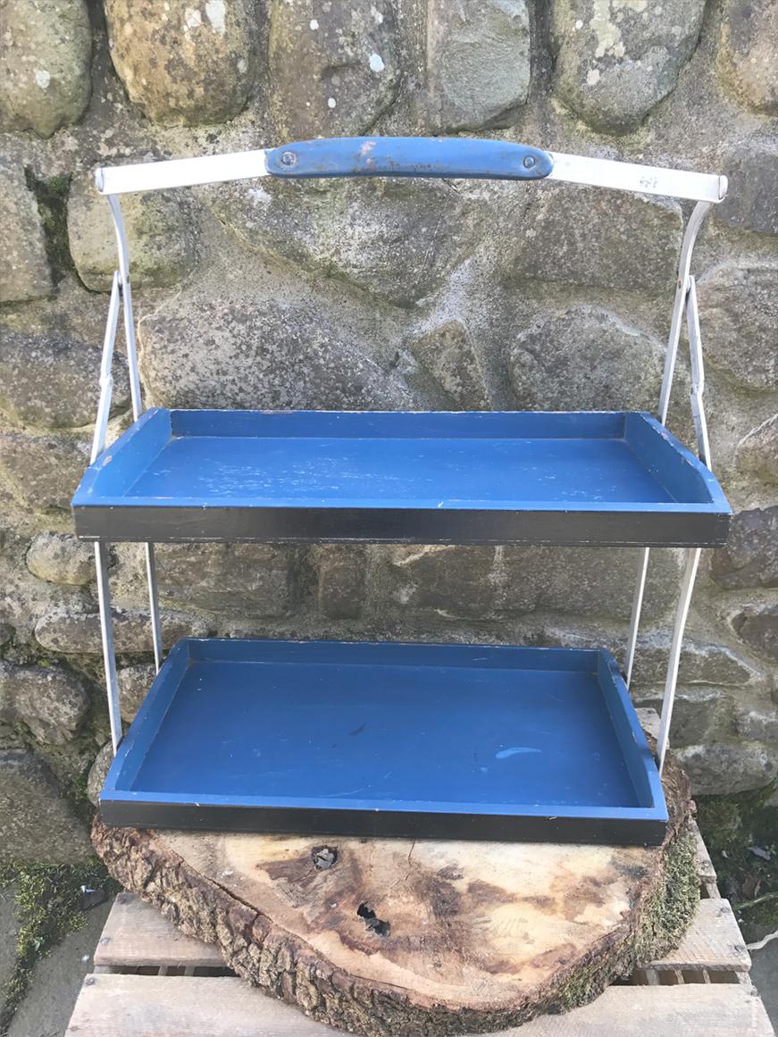 Vintage blue rack £6.00