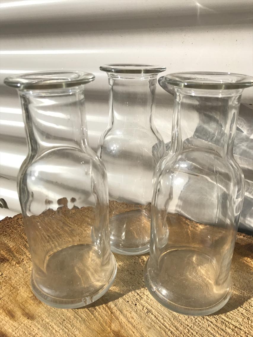 Milk bottle vase £1.00