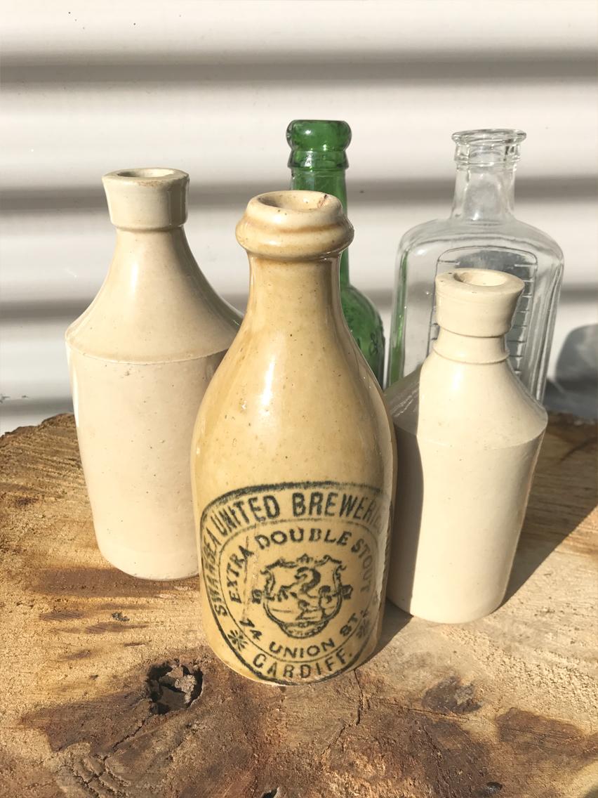 Vintage mixed bottles £1.00