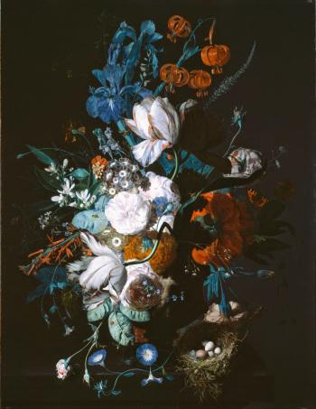 Jan van Huysym, Vase with Flowers.  Notice the nodding  Lilium martagon .