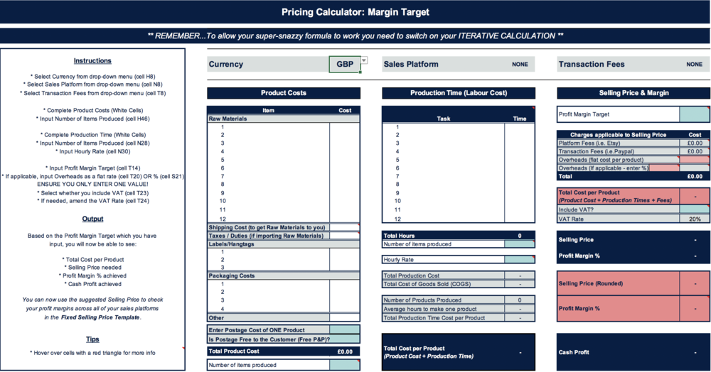 pricing calculator flourish retail