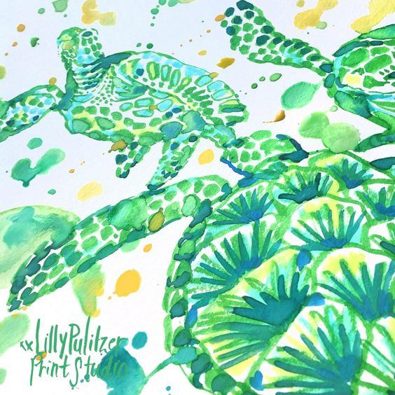 Lilly 5x5 - Sea Turtles