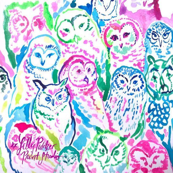 Lilly 5x5 - Owls
