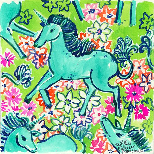 Lilly 5x5 - Unicorns