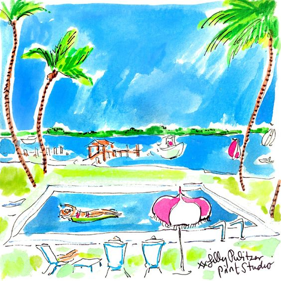 Lilly 5x5 - Pool Lounging