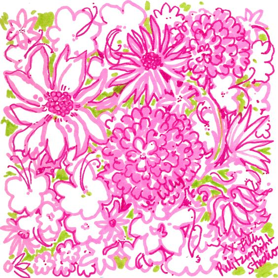 Lilly 5x5 - Pink Spring Flowers