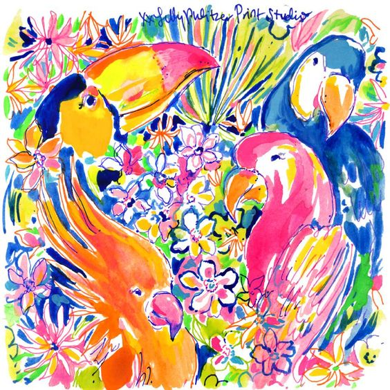 Lilly 5x5 - Tropical Birds