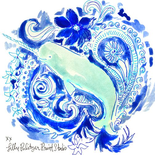 Lilly 5x5 - Unicorn of the Sea