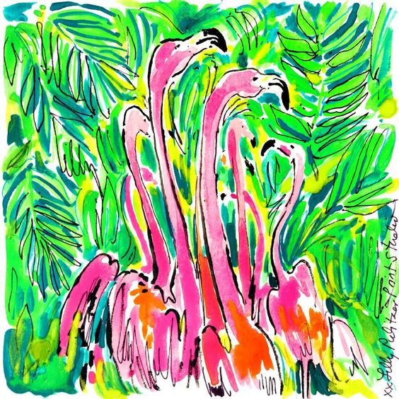 Lilly 5x5 - Flamingo Flock