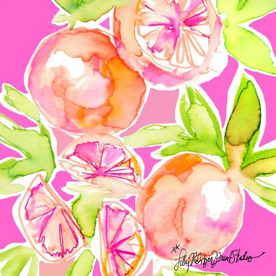 Lilly 5x5 - Pink Oranges