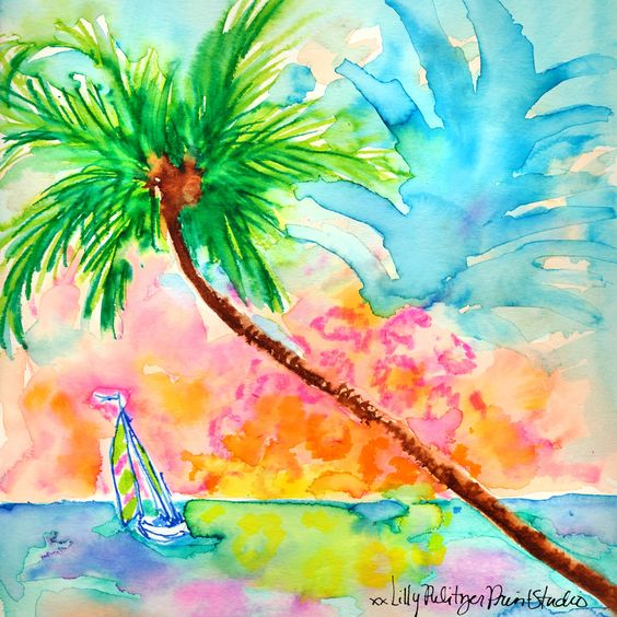 Lilly 5x5 - Pineapple Sunset