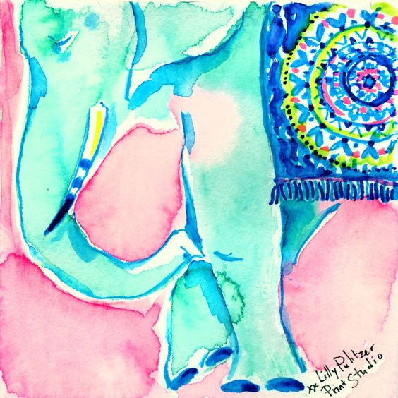 Lilly 5x5 - Blue Elephant