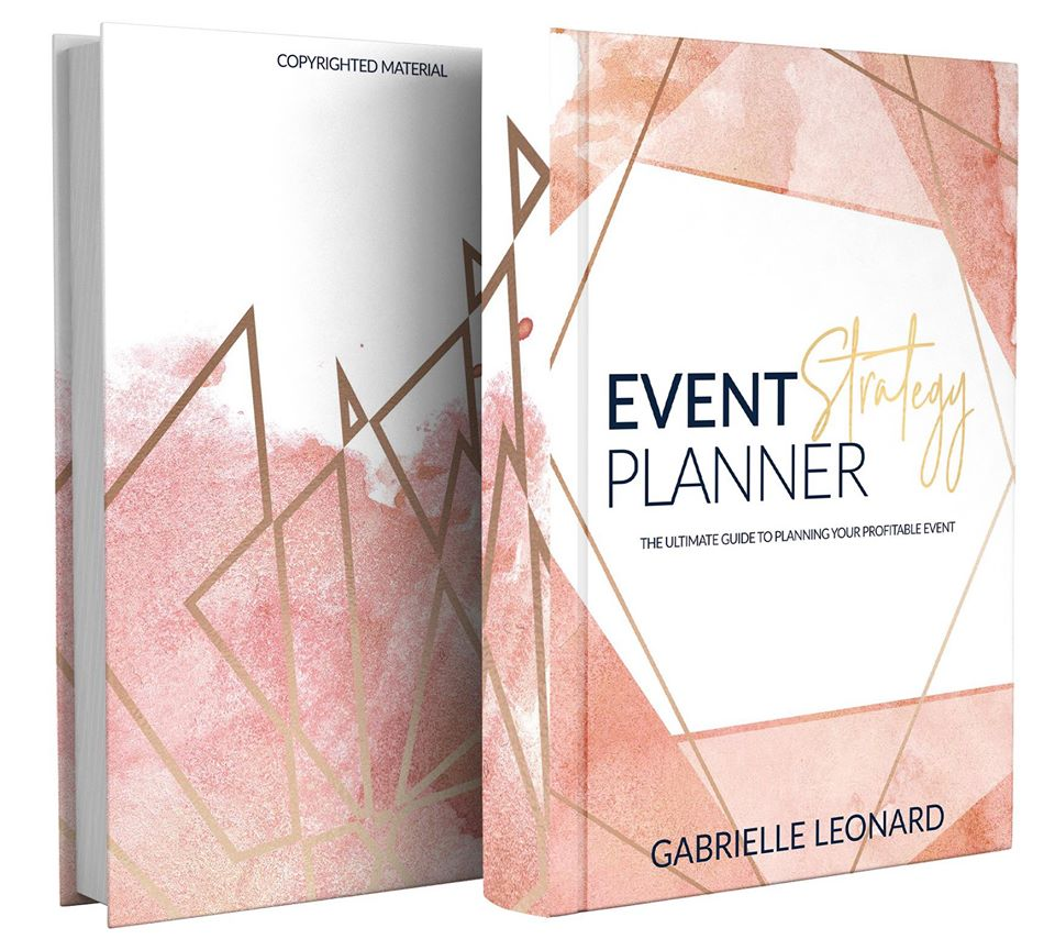 PREORDER  - EVENT STRATEGY PLANNER: THE ULTIMATE GUIDE TO PLANNING YOUR PROFITABLE EVENT The Event Strategy Planner was designed to help you brainstorm, plan and execute profitable in-person workshops, classes, seminars, conferences and more! Land amazing partners and sponsors for your upcoming event and track your event expenses, income, team members, weekly tasks, projects and activities like a boss!This planner was created and designed by an online business owner who understands the concept of funnels, opt-ins Facebook ads etc., and created this planner so that you can plan your event and use your event as tool to be a booked boss! Create offers specifically for your event, and manage your event project effortlessly with this planner, your best friend during your planning process. This planner comes in two colors, pink and navy.  PREORDER SPECIALWhen you preorder you will get:1. 8.5x11.5 Planner2. Planner stickers3. Decorated planner paperclip4. Diamond Pen5. One FREE month (JULY) in the Booked Boss Society Membership Program6. FREE