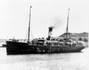 The SS  Florizel  under way